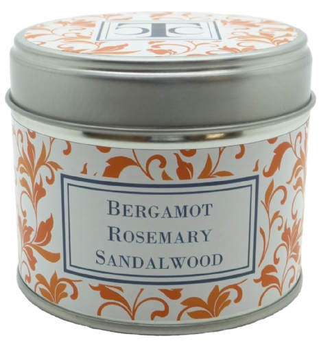 Bergamot Rosemary & Sandalwood Scented Candle Tin 35 hour